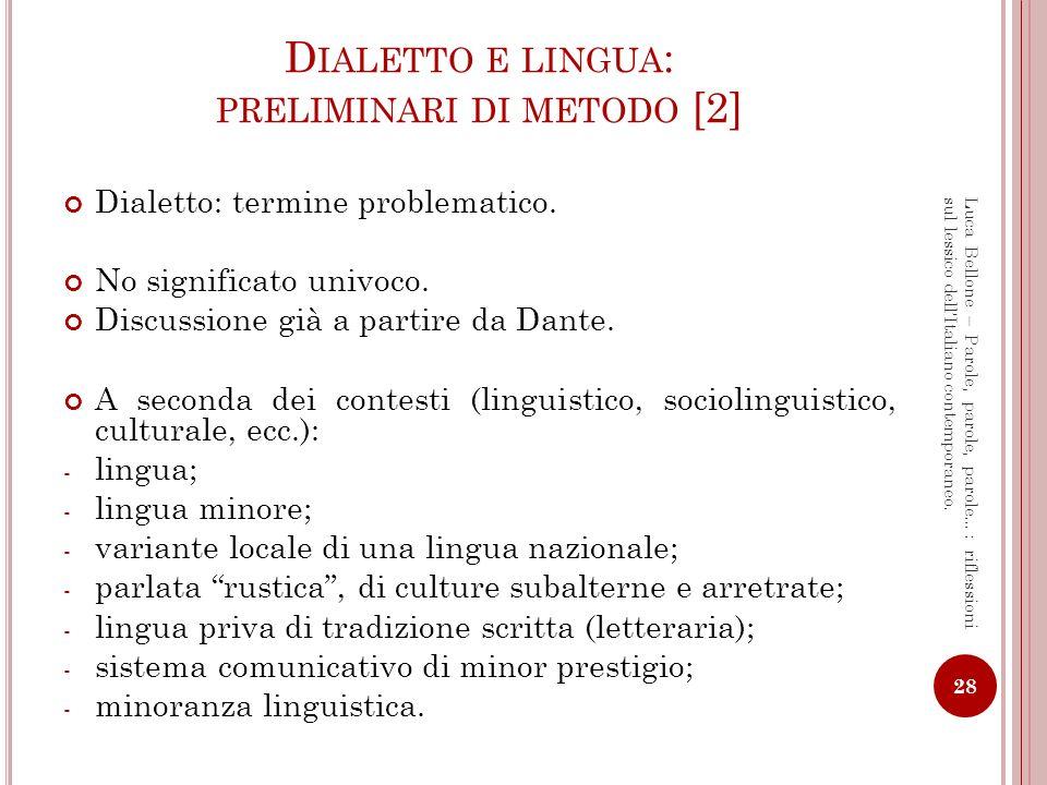 Dialetto e lingua: preliminari di metodo [2]